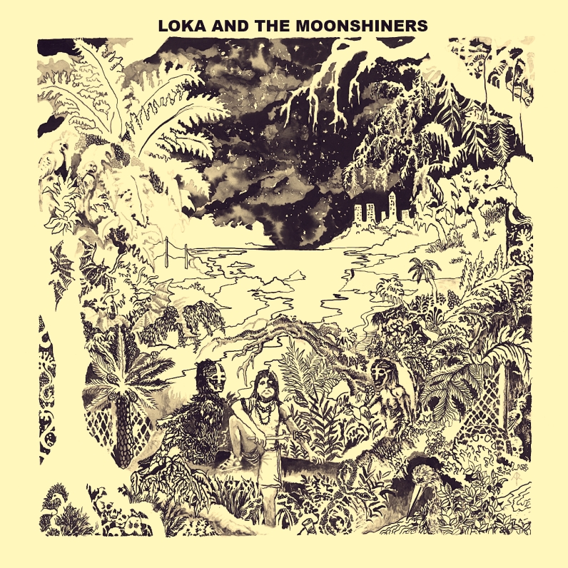 Under the big trees EP's Artwork by Arnaud Rochard - LoKa and the Moonshiners artwork by Arnaud Rochard